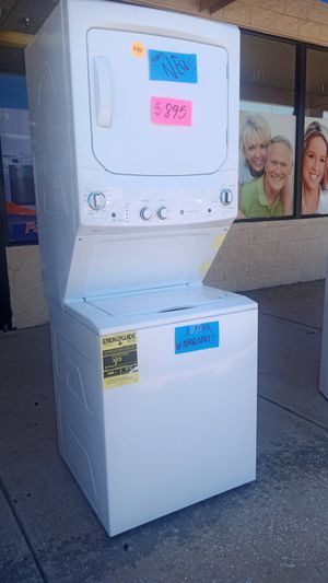 Brand New GE Washer/Dryer stackable!!!! for Sale in Haines City, FL