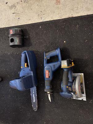 Ryobi Chain Saw , Circular Saw , and Skill Saw Batter Powered for Sale in Randolph, MA