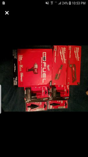 Brand new milwaukee tools batterys and step bits for Sale in Salisbury, MA