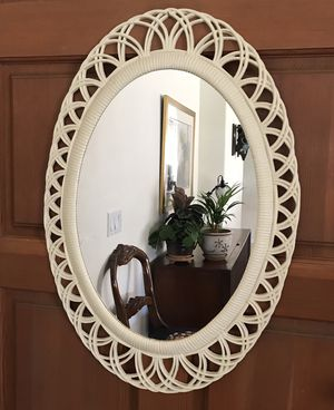 Vintage Cream Faux Wicker Wall Mirrors for Sale in Phoenix, AZ