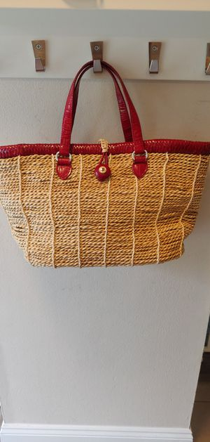 Brighton straw and red leather tote bag for Sale in Columbus, OH