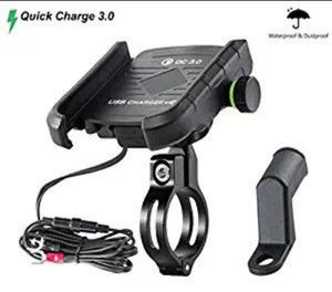 Waterproof Motorcycle Phone Mount with QC 3.0 USB Charger Socket Motorcycle Handlebar Charger for Sale in Fontana, CA