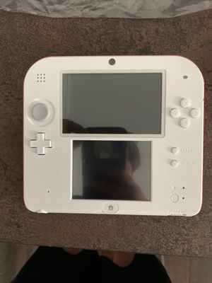 Nintendo 2ds scarlet red with super Mario bro's 2 pre-installed with charging cable for Sale in Walled Lake, MI