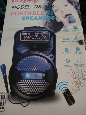 Bluetooth speaker with mic remote radio guitar plug ligths for Sale in Lebanon, PA