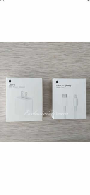 Brand New Original Apple iPhone fast charger set 18 wats for iPhone 11 and iPad for Sale in Santa Ana, CA