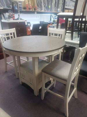 Table and 4 chairs new firm price for Sale in Orlando, FL