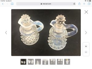 Hob nail antique bottles set of 2 for Sale in South Lake Tahoe, CA