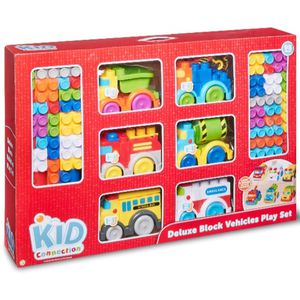 Kid Connection Deluxe Blocks & Vehicle Playset 98-Pieces for Sale in Arlington, TX