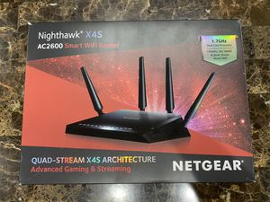Netgear Nighthawk X4S Smart WiFi Router (R7800) - AC2600 for Sale in Oakland, CA