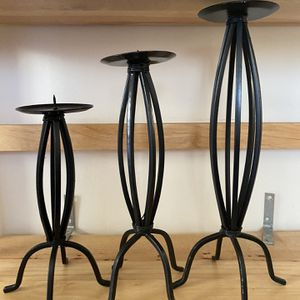 Black candle sticks, tall, medium and short, for Sale in Milton, MA