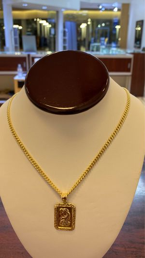 10k Miami Cuban chain with 10 k charm tooo @@@@ $450 for Sale in Dallas, TX