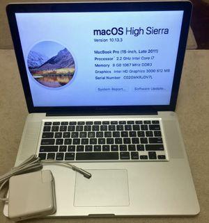 Apple MacBook Pro 2.2 GHz i7 8GB RAM 500GB for Sale in Alexandria, VA