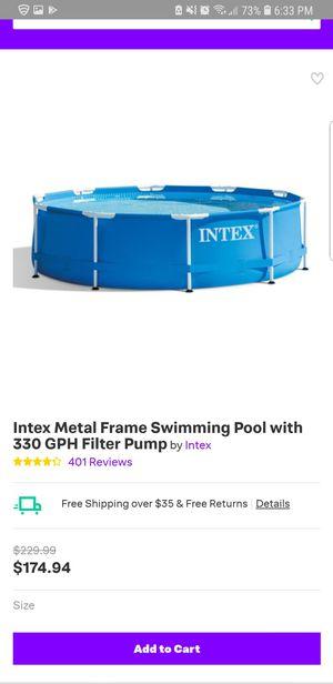 Intex metal frame pool for Sale in Burke, VA