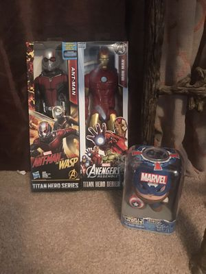 Marvel Toys Ant Man Iron Man Captain America for Sale in Madera, CA