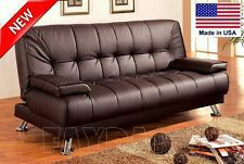 Espresso futon sofa bed with detachanle arms ( new ) for Sale in Hayward, CA