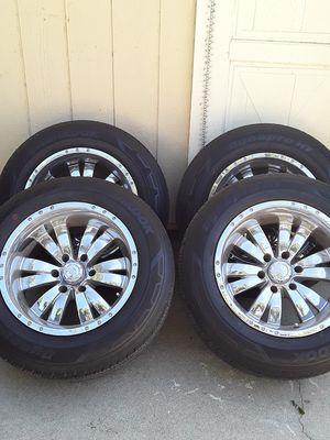 Chevy Silverado rims with tire for Sale in Ontario, CA