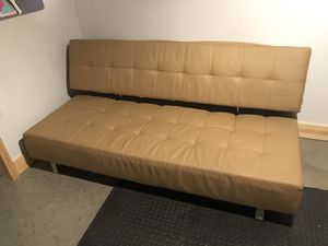Leather futon for Sale in St. Louis, MO