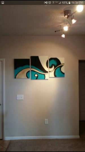 3 piece canvas painting for Sale in Lakeland, FL