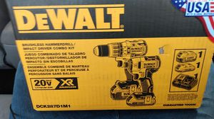 DeWalt Brushless Hammer Drill/ Impact Driver Combo Kit for Sale in Seattle, WA