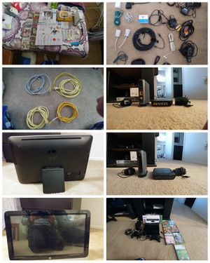 HP touch screen computer, and spare computer parts and wires for Sale in Houston, TX