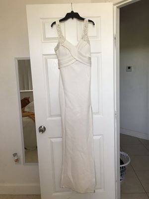 White prom dress with slit on the side from Emerald Sundae for Sale in Miami, FL