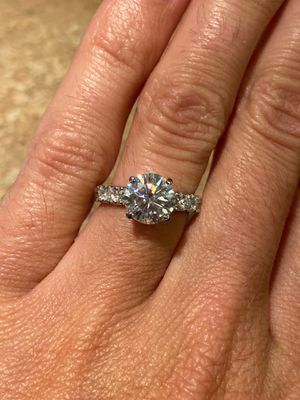 2 Ct Moissanite Engagement Ring 10k Solid White Gold for Sale in Goose Creek, SC