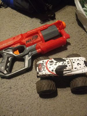 Nerf gun and monster mutt truck for Sale in Los Angeles, CA