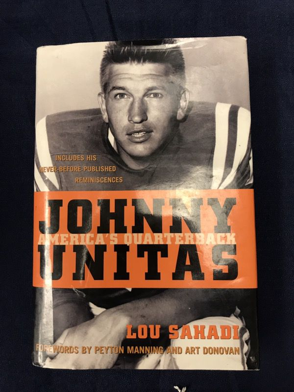 "Book ""Johnny Unitas America's Quarterback"