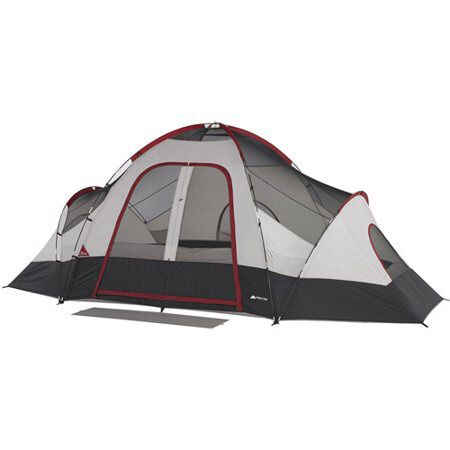 8-Person Family Camping Tent with Rear Window