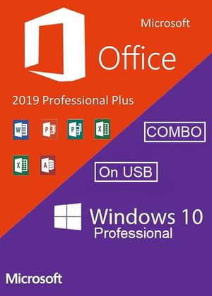 Windows 10 and Office 2019 Combo USB for Sale in Lansing, IL