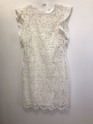 New white LACE DRESS 16 xl for Sale in Monterey Park, CA