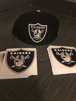 """NEW! Raiders NFL waterproof stickers 4"""" outdoor/ indoor use high quality! Buy more, SAVE MORE! Up to $1 ea. for Sale in El Monte, CA"""