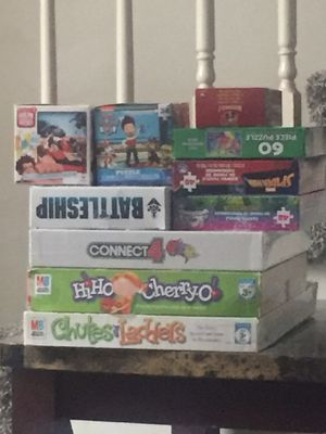 Board game and puzzle lot for Sale in Clarksville, TN