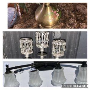 Light fixture, Vase, Candle holder - All $15 for Sale in Douglasville, GA