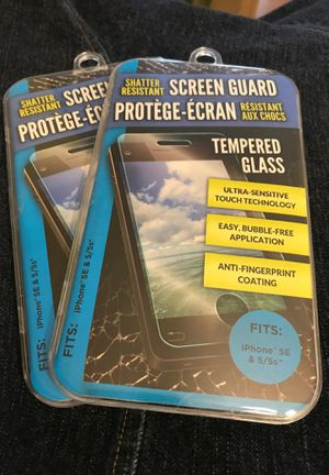 Tempered Glass Shatter Resistant Screen Protecter for iPhone SE & 5/5s for Sale in Zillah, WA