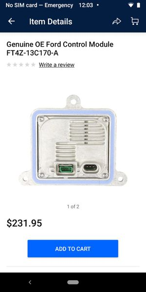 OEM hid Xenon ballast control module 16 17 18___ part# FT4Z-13C170-A for Sale in Loma Linda, MO