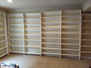 Large homemade solid wood bookshelves - different dimensions for Sale in Erie, CO