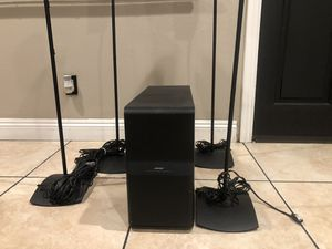 Bose Acoustimass 10 series Double cube speakers & Bass w/stands for Sale in La Mirada, CA