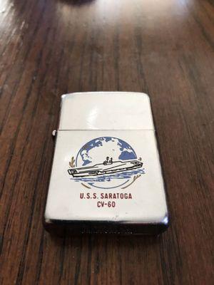 U.S.S Saratoga CV-60 Early 80s Era ZIPPO Lighter Works Perfect . 40$ for Sale in Hemet, CA