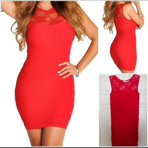 Red Bodycon Lace Cutout Mini Dress for Sale in Ceres, CA