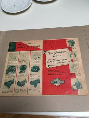 1950s Harley Davidson Christmas Catalog for Sale in Peachtree Corners, GA