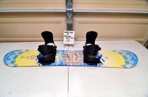 Lamar Pixie 123cm snowboard with Rossignol Rookie adjustable bindings for Sale in Torrance, CA