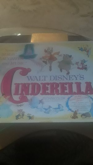 VINTAGE RARE WALT DISNEY'S CINDERELLA THEATRE POSTER SALE PRICE FIRM for Sale in Johnston, RI