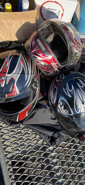 Motorcycle helmets medium ($30 each ) for Sale in Capitol Heights, MD