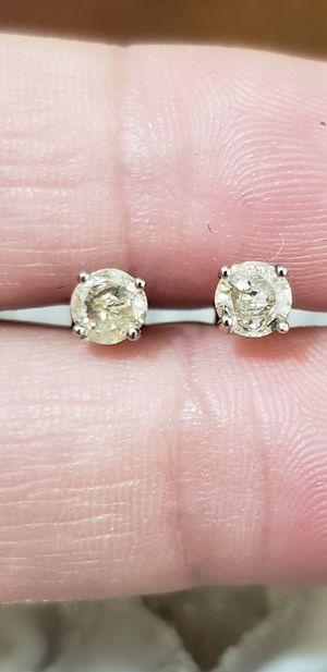 10 k diamond earrings for Sale in San Jose, CA