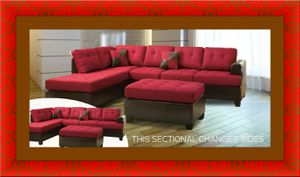 Red sectional with free ottoman and delivery for Sale in Gambrills, MD