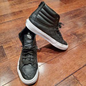VANS Hologram SK8-Hi Black on Black Leather Zip 10 for Sale in Myrtle Beach, SC