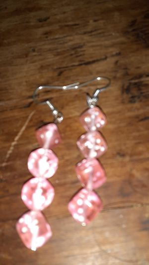 Pink dice earrings for Sale in Albuquerque, NM