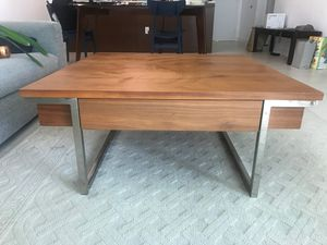 Coffee table squared wood metal for Sale in Miami, FL
