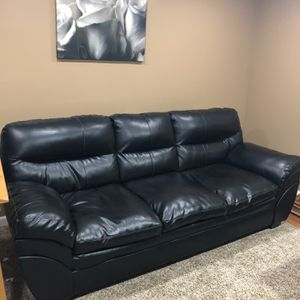 Black Faux Leather Sofa for Sale in Canonsburg, PA